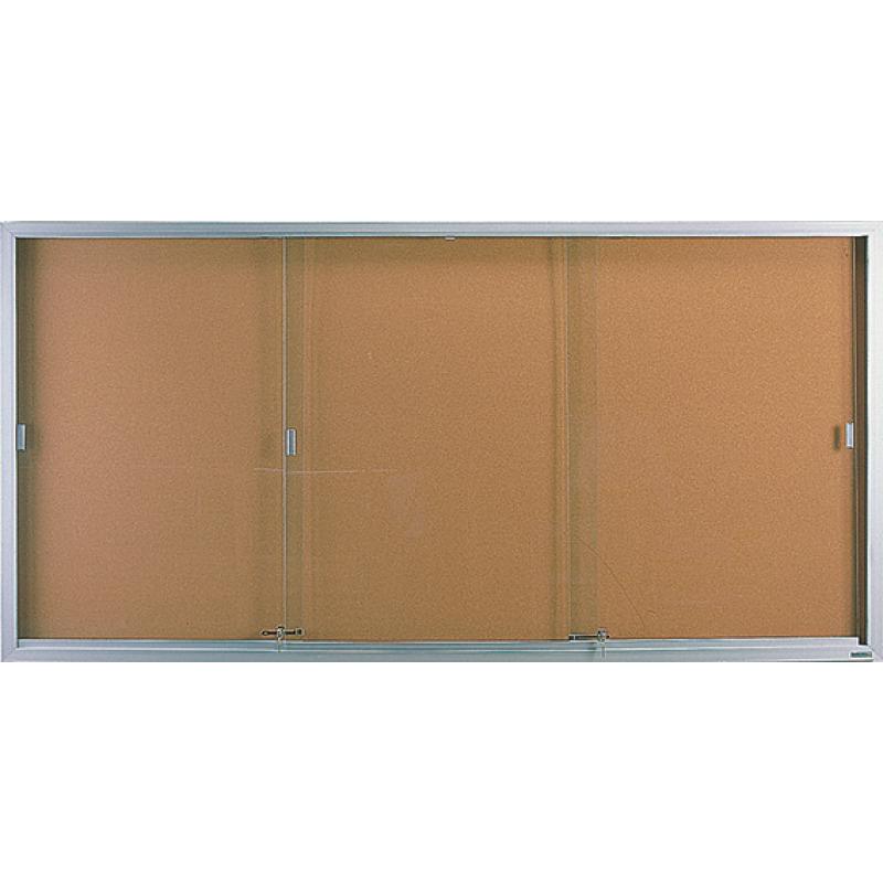 Sliding Glass Display Cabinet Glass Enclosed Bulletin Board