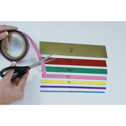 Rolls of magnet you can cut to length simply with scissors!