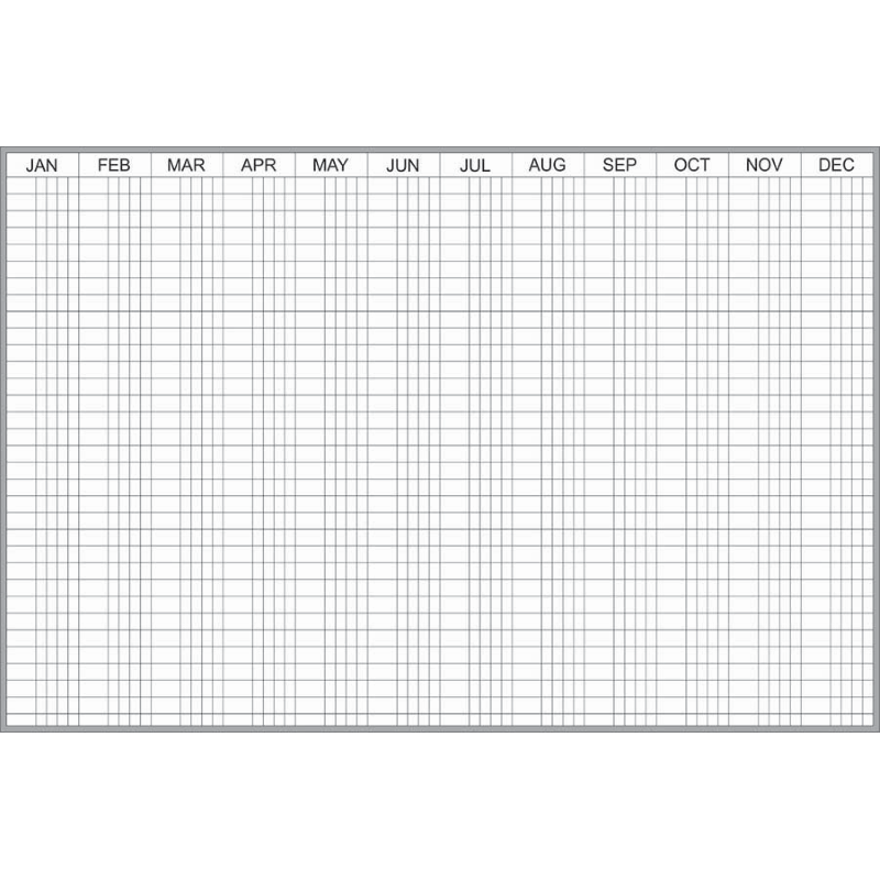 4'X6' Grid style full year scheduler