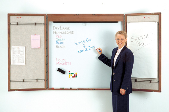 Bon Cabinet Style Whiteboard With Optional Projection Screen
