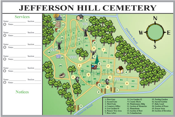 cemetery map whiteboard kit