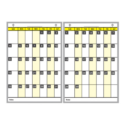 church activities calendar board kits