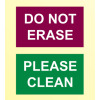 red and green magnet to indicate clean or do not erase