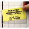 clear pouch adhesive card holder with bar code datacard
