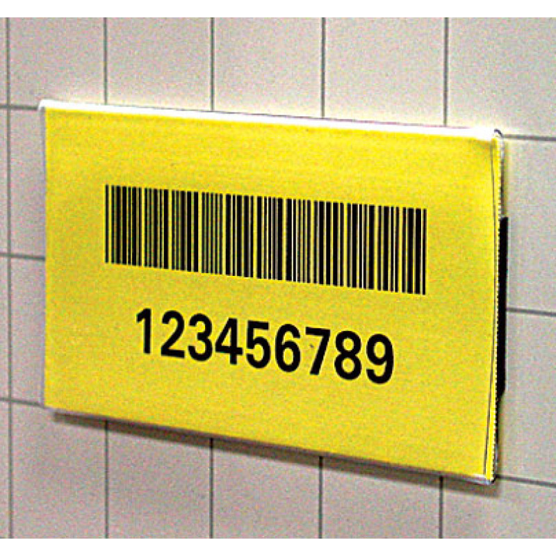 clear tube card holder with bar code datacard