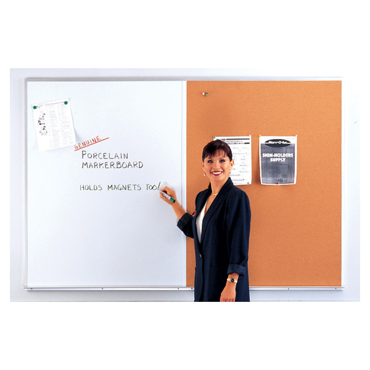 whiteboard and bulletin board combination