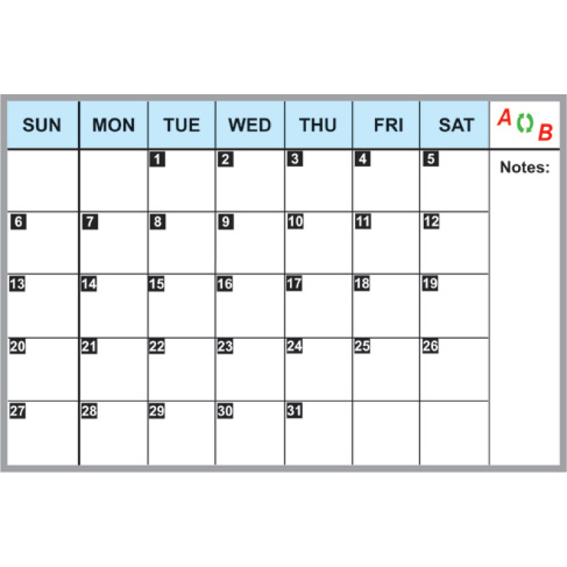 month whiteboard calendar for wall dividers