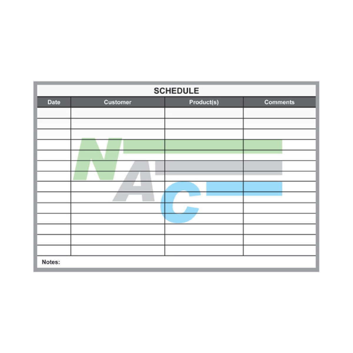 custom scheduling dry erase board for cubicle wall