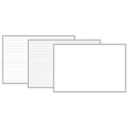 custom sized lined, gridded, plain magnetic whiteboard panels