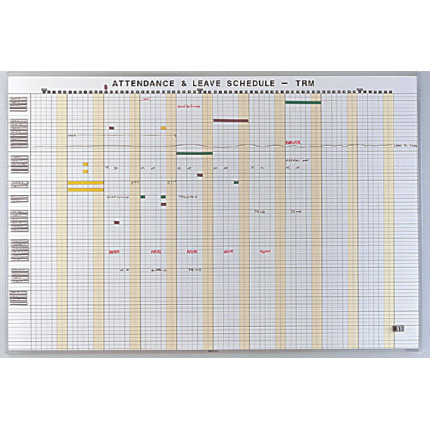 daily leave schedule whiteboard kit
