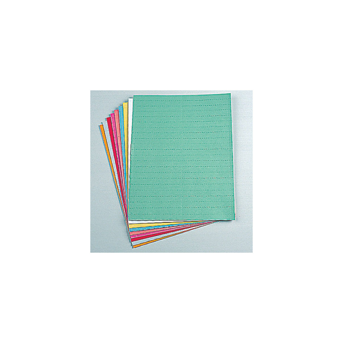 datacard sheets in 9 available colors