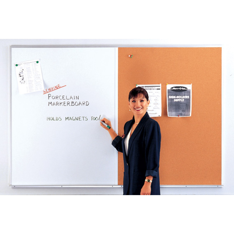 enclosed bulletin board whiteboard combination