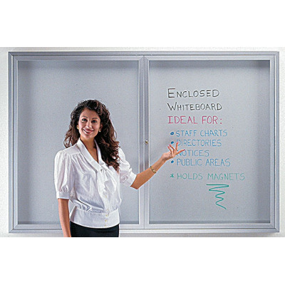 clear door enclosed bulletin board