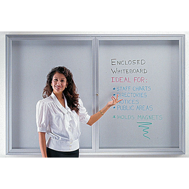 enclosed clear door whiteboard