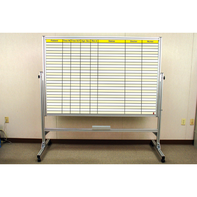 reversible heavy duty custom whiteboard on casters