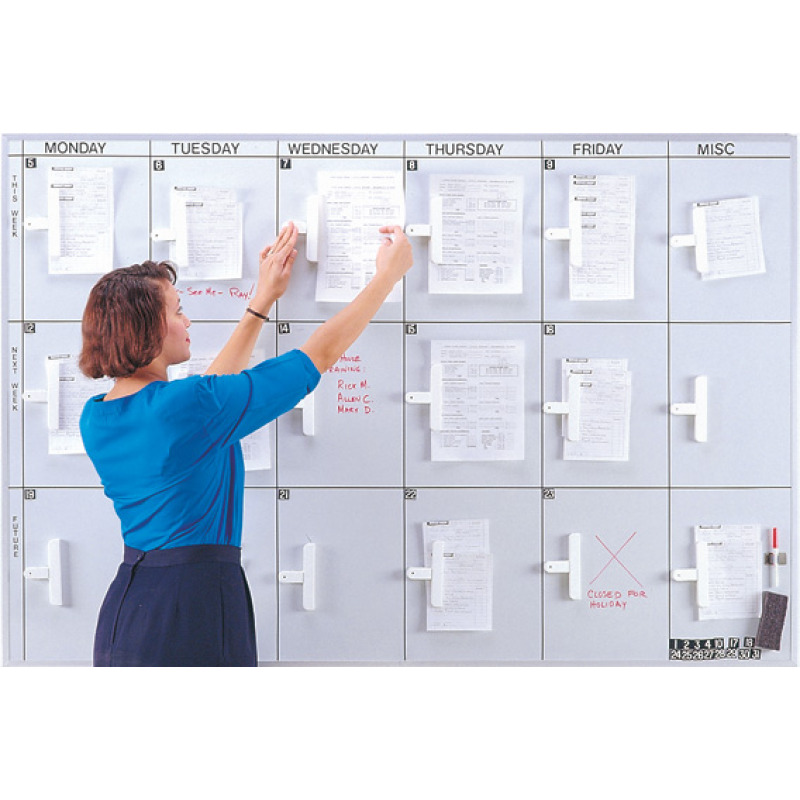 dry erase board planner for job assignments magnetic concepts
