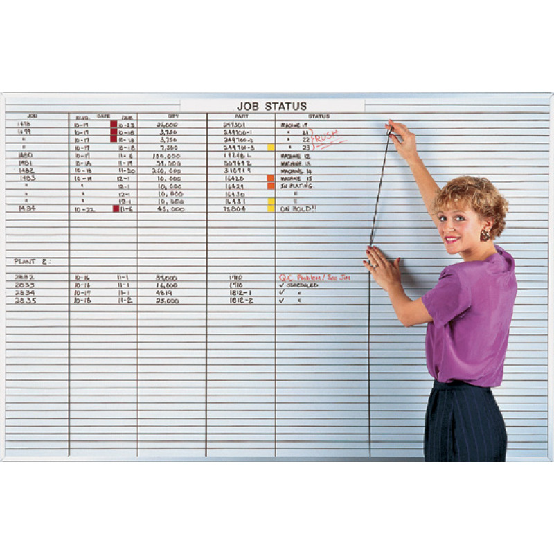 Lined Whiteboard Magnetic Dry Erase Board