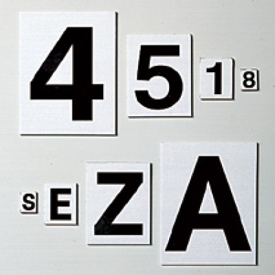 black and white magnetic numbers and letters