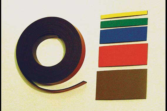 10 ft roll of magnetic ribbon, various sizes and colors