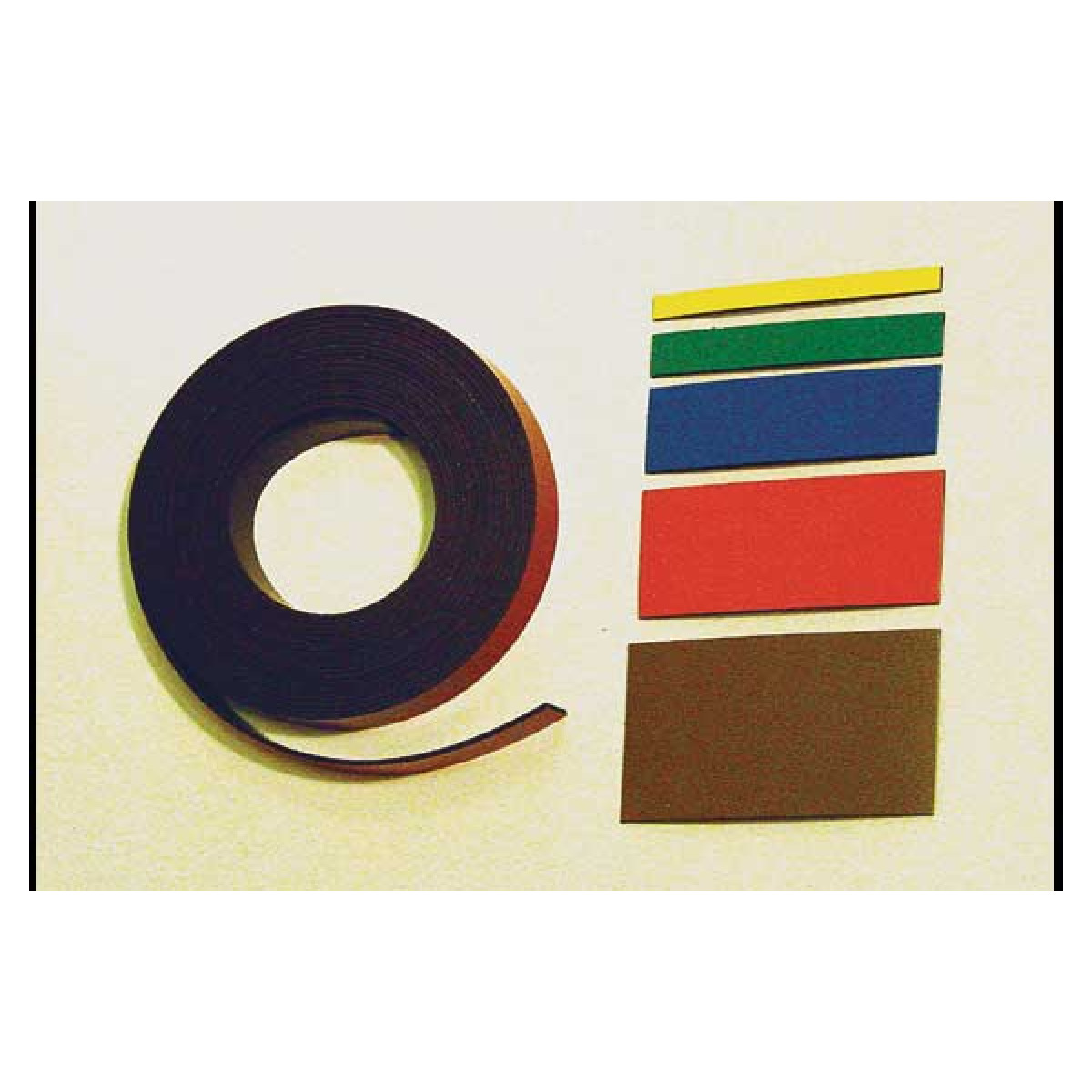 10 foot roll of magnetic ribbon, various sizes and colors