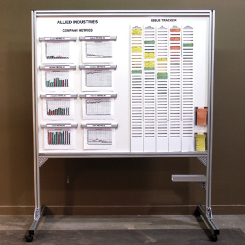 Metrics tracking whiteboard kit
