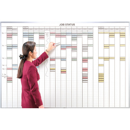 1x3 inch grid multi-purpose control whiteboard