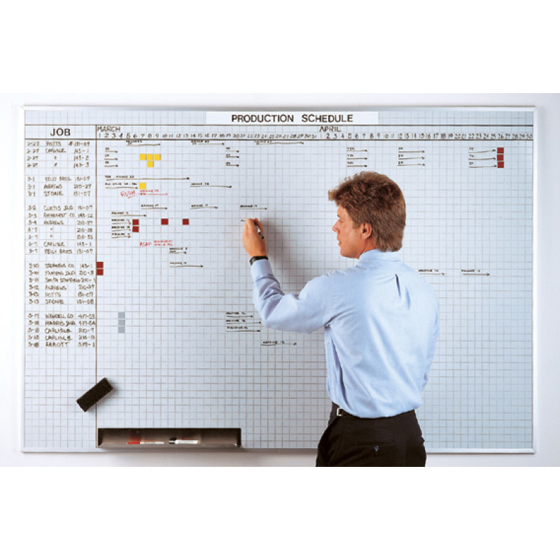 multi-purpose small grid whiteboard kit
