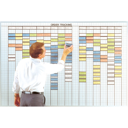 2x4 inch grid multi-purpose control whiteboard