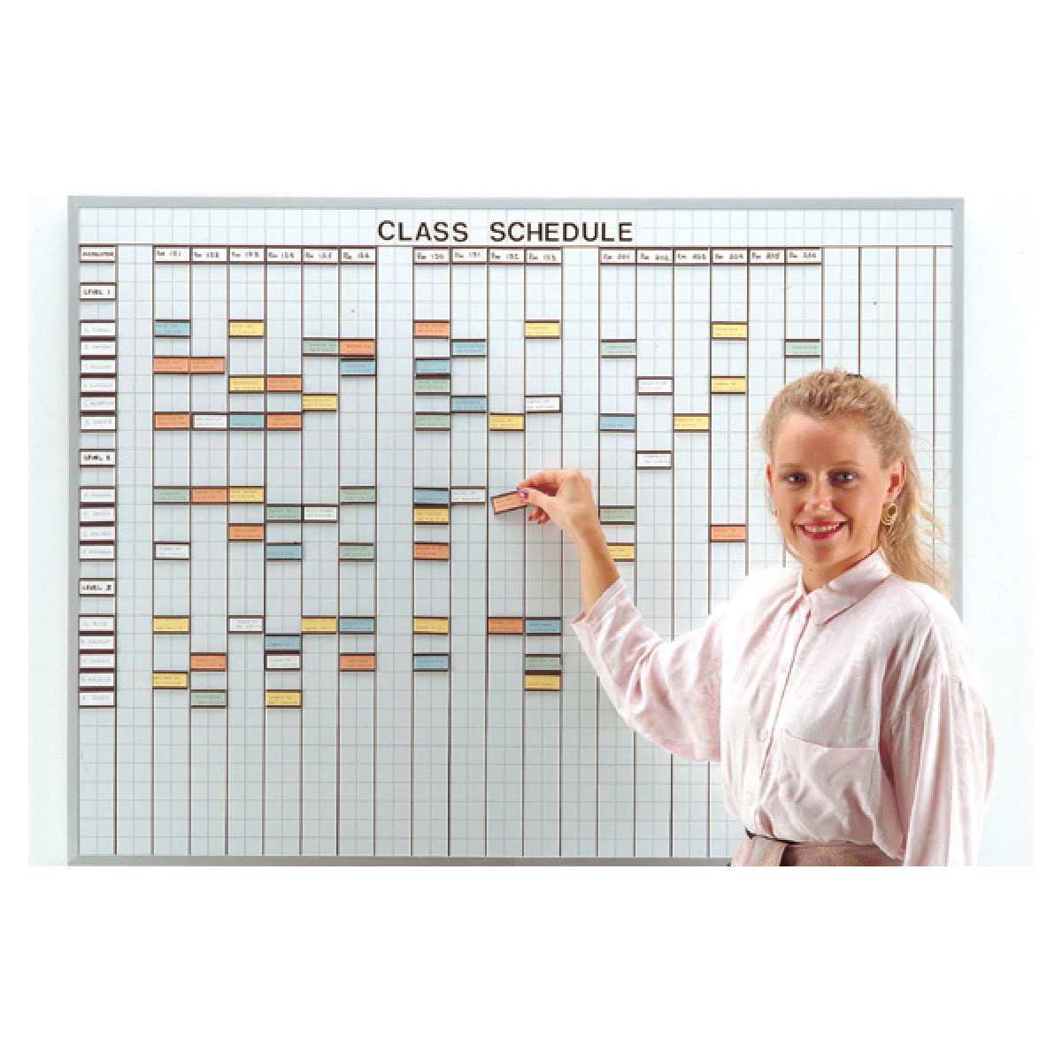 1x2 inch grid multi-purpose control whiteboard