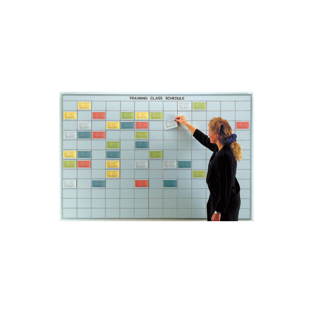 multi-purpose dry erase board with 3x5 grid
