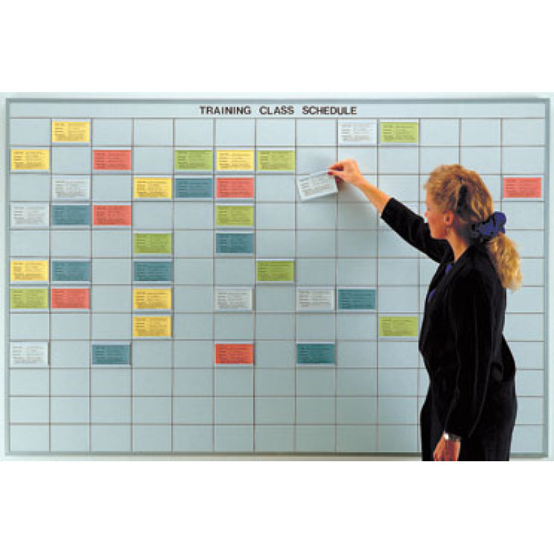 3x5 inch grid multi-purpose control whiteboard