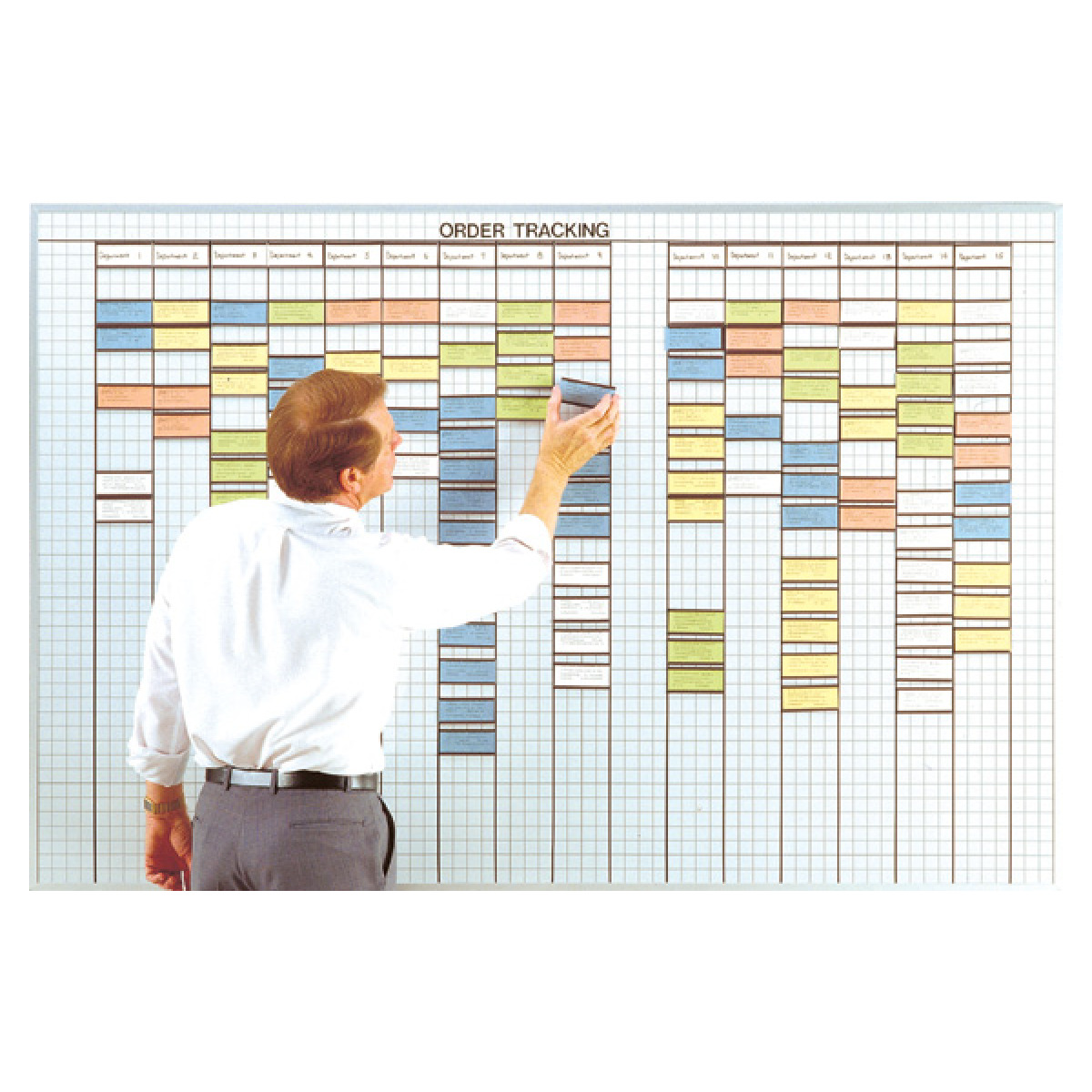 multi-purpose system whiteboard with 2x4 grid