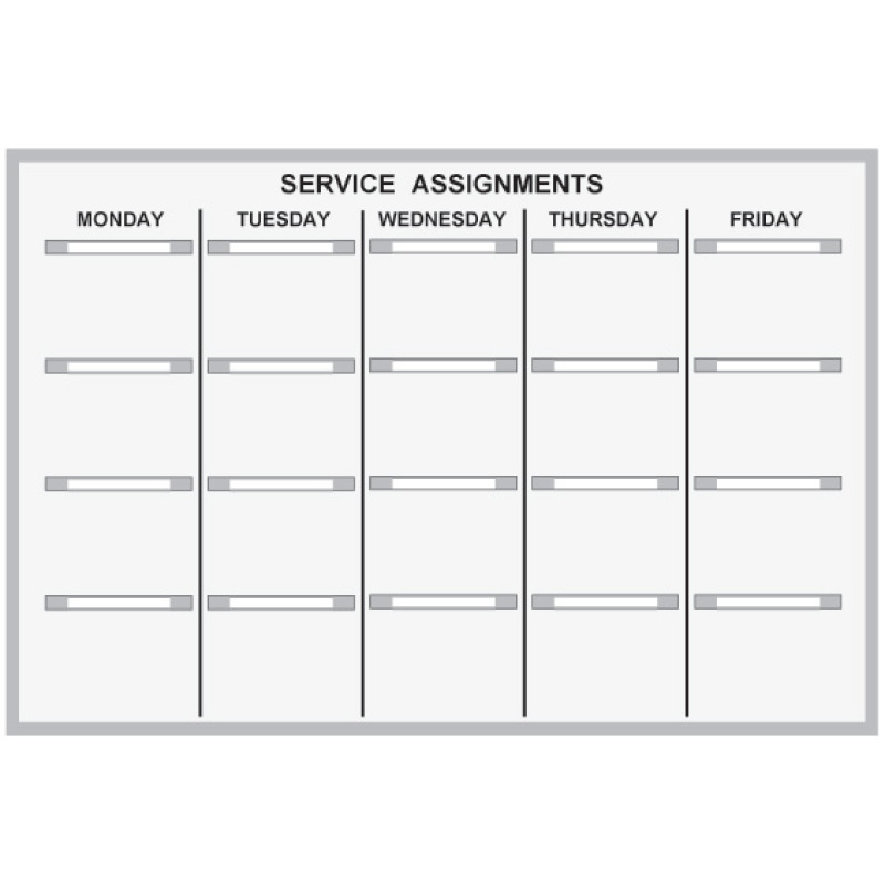 Service Scheduling paper grip kit