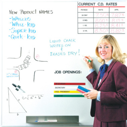 plain whiteboard with sample applications