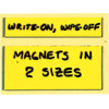 two write-on magnet sizes