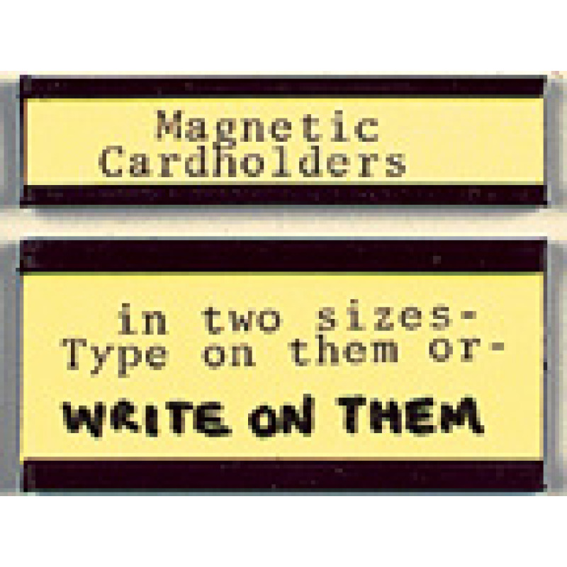 two magnetic card holder sizes