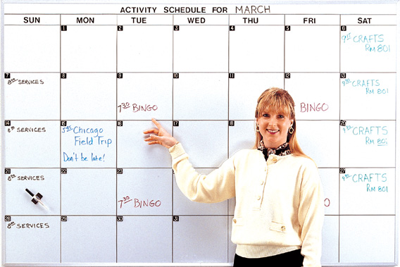 Month Planner Whiteboard Dry Erase Monthly Calendar