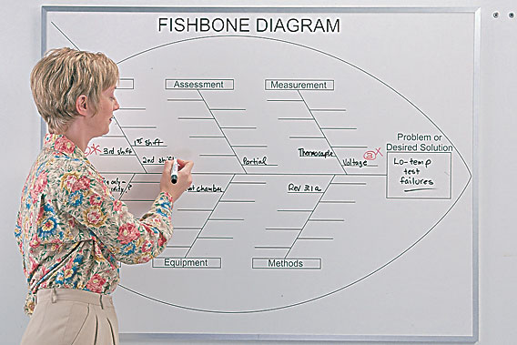 fishbone chart whiteboard