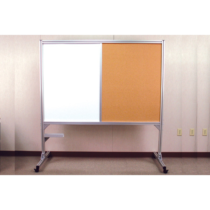 roll-around bulletin board whiteboard on casters