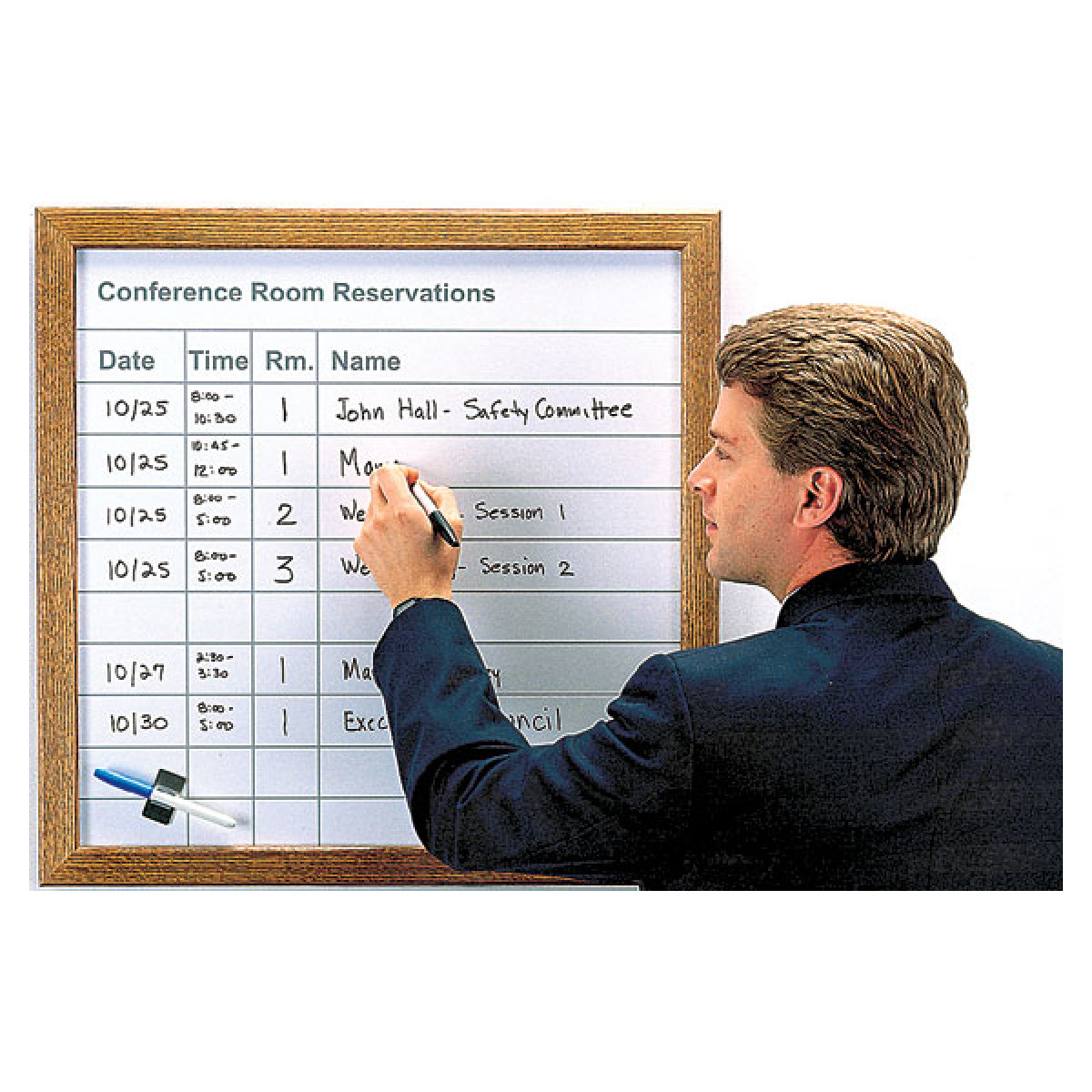 room and equipment reservation scheduling board