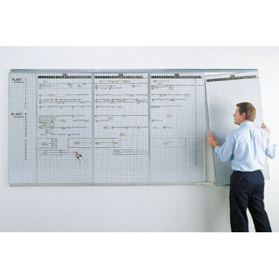 rotating lift-out production schedule panels