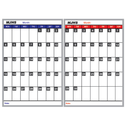 monthly school calendar boards kit