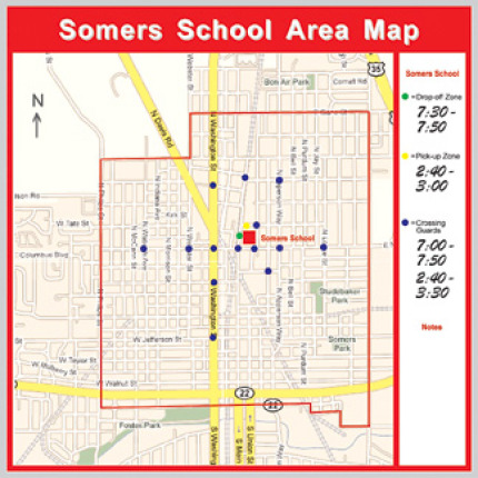 school district area map board kit