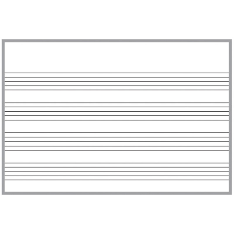 plain music dry erase board