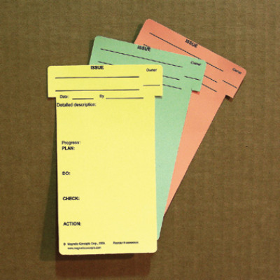 pre-printed color T-cards