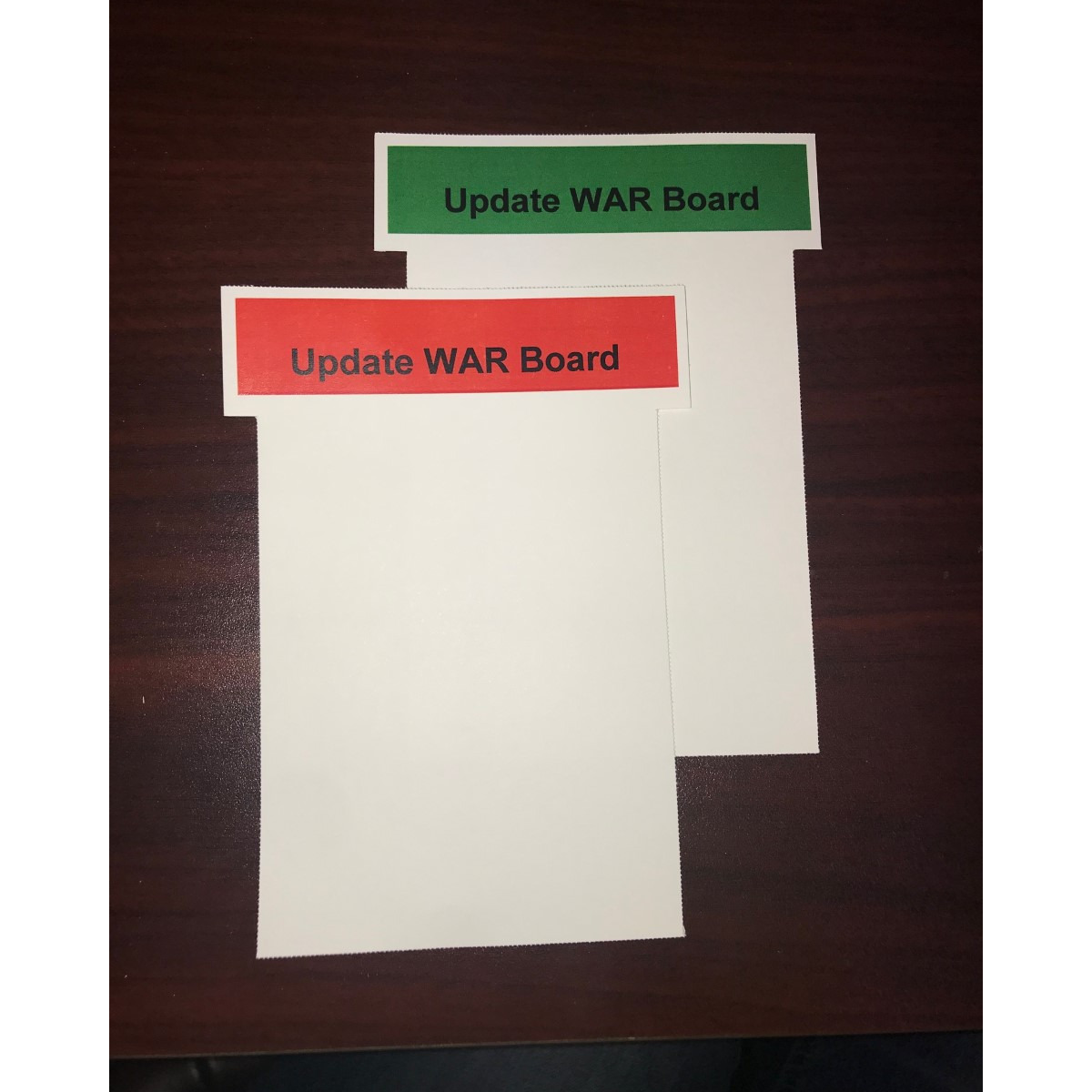 Color Printed, 2 sides T-cards