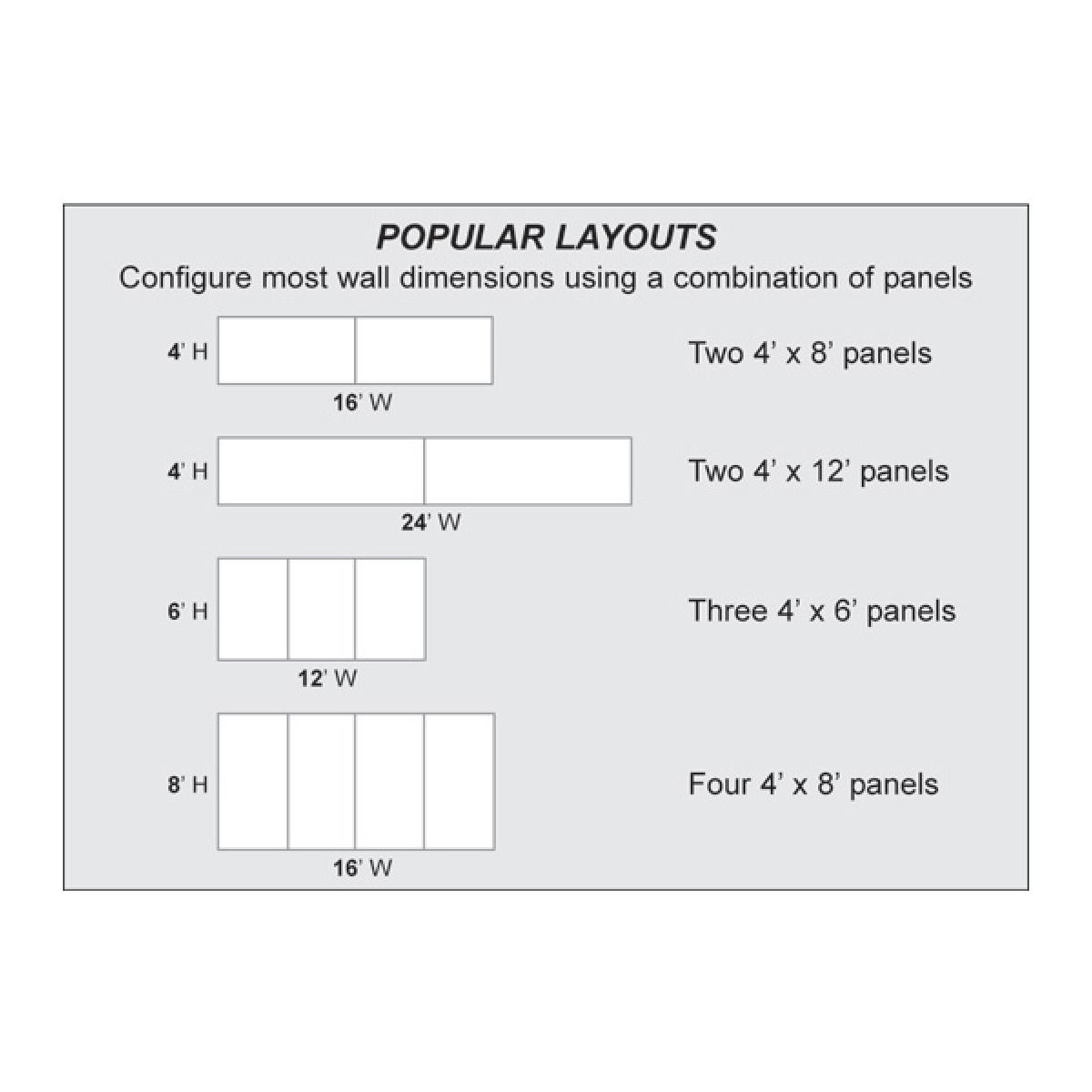 sample whiteboard wall panel configurations