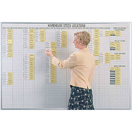 warehouse locator board system