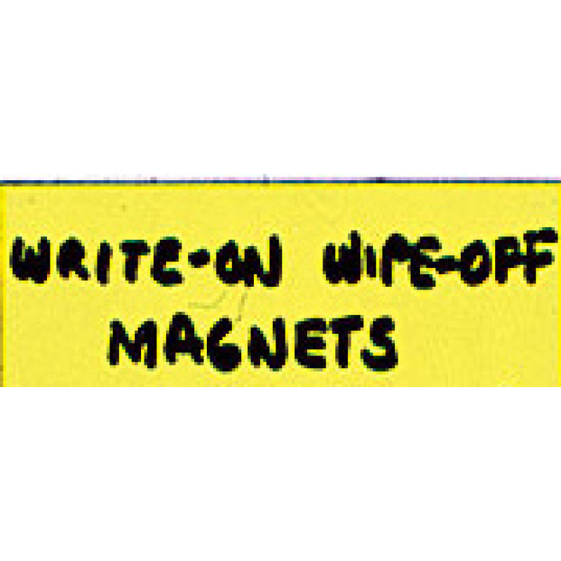 write-on/wipe-off magnet